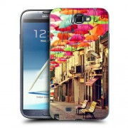 Husa Samsung Galaxy Note 2 N7100 Silicon Gel Tpu Model Vintage Umbrella