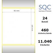 Etichette SQC - Carta termica protetta (bobina), formato 95 x 105