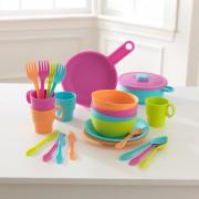 Accesorii pentru bucatarie 27 piese Bright Cookware Set - Kidkraft