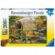 Пъзел Ravensburger 200 части XXL - Животни от саваната, 7012891