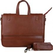 Crown Fashion 15.6 inch Laptop Messenger Bag(Brown)