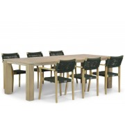 Lifestyle Garden Furniture Lifestyle Dallas/Brighton 240 cm dining tuinset 7-delig