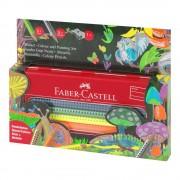 Creioane colorate mina groasa, 10 culori/set FABER-CASTELL Grip Jumbo, cutie metal, FC110940