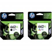 Combo Cartucho HP 662XL-Negro + HP 662XL-Tricolor