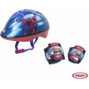 Spiderman - Set Protectie Casca Genunchiere Cotiere