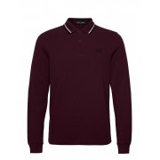 Fred Perry Ls Twin Tipped Shirt Polos Long-sleeved Röd Fred Perry