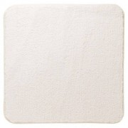 Bidetmat Antislip Sealskin Angora Polyester Ivoor 60x60cm