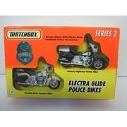 1994 Matchbox Series II Electra Glide Police Bikes Kansas Highway Patrol Bike and Florida State Trooper Bike