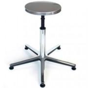 sgabello fisso con sedile in acciaio e base in alluminio - seduta ø32c