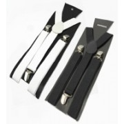 Sorellaz Y- Back Suspenders for Men(White, Black)