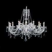 Lustra 12 brate cristal Bohemia, silver