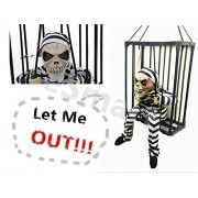 E Smart New! Let Me Out Fun Scary Talking Skeleton In Cage Halloween Gift Toy Halloween Decoration
