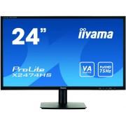 iiyama 24' 1920x1080, VA panel, 250cd/m², VGA, DisplayPort, HDMI, 4ms, Speakers (23,6' VIS)