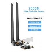 TOTOVIN PCI-e Gigabit Ethernet Network Adapter Card Realtek RTL8111E 1000Mbps Nic, AX200.