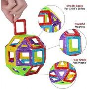 Smartcraft Magnetic Tiles 58pcs Building Blocks Set Magnetic Tiles Educational Building Construction Toys for Kids Boys