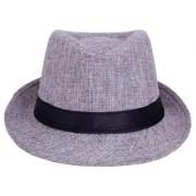 Tahiro Grey Cotton Fedora Hat - Pack Of 1