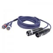 DAP Audio 2 x RCA-2 x XLR 3 m