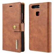 Huawei P9 Dg.Ming 2-in-1 Wallet Case - Brown