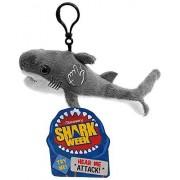 Discovery Shark Week 30th Anniversary Shark Week Shark Clip para Mochila con diseño de tiburón de Peluche (17,8 cm), Tiburón Toro, 17.7 cm