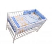MamaKiddies Sofie Dreams 4 részes ágynemű 180°-os rácsvédővel kék színben
