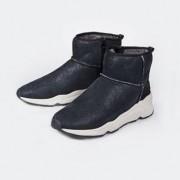 Ash Sheepskin Sneaker Boots, 7.5 - Black
