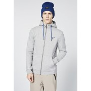 CHIEMSEE Herren Kapuzen-Sweatjacke YELLOWSTONE CLUB, neutral gray