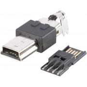 Mufa mini-USB B 2.0, 5 pini, 10120252 BKL Electronic