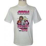 Camiseta Personalizada Monster High Personagens - Coleção Aniversários