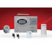 IP-AP007 - безжична GSM аларма за дома с 1 обемен датчик, 1 МУК(паник бутон) и 2 дистанционни