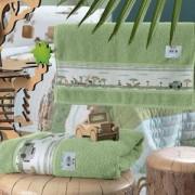 Enxovais Banho Adulto Toalha Jogo 2 pecas Altenburg -Mundo Kids Safari Verde