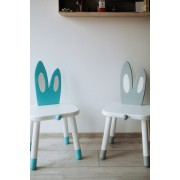 White Bunny - Set 2 scaune pentru copii Iepuras SB-145