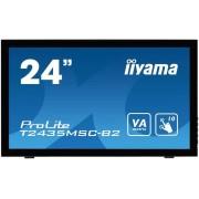 "Monitor VA LED iiyama 23.6"" T2435MSC-B2, Full HD (1920 x 1080), Touch, DVI, HDMI, DisplayPort, USB, 6 ms, Boxe (Negru)"