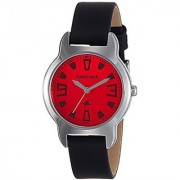 Fastrack Analog Red Dial Girls Watch -6127Sl02