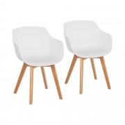 Cadeira - branca - 2 pçs.