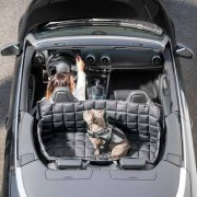 95°C Washable Car Dog Cover, M - Rear seat 2 doors/convertible