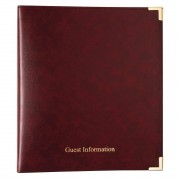 Nisbets Burgundy Guest Information Folder