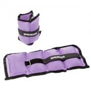 Set greutati fitness pentru maini si picioare, 2x0.5kg, 2 buc, violet