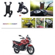 AutoStark Motorcycle Mount Cell Phone Holder/Installed to Motorcycle Rearview mirror Phone Mount For Bajaj Discover 150 f