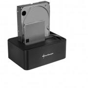Sharkoon QuickPort Duo Clone HDD Dokkoló és klónozó állomás (USB 3.1 Type C - SATA)