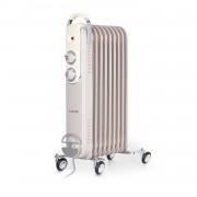Klarstein Thermaxx Retroheat, маслен радиатор, 2000 W, колела, сиво-кафяв (taupe) (HTR6-ThmxxRetro20Gry)