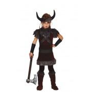 Guirca Disfraz de guerrero vikingo infantil - Talla 10 a 12 años