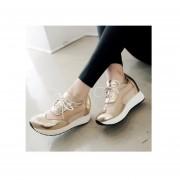 Mujer zapatos Sandalias de plataforma estilo deportivo y comodo de color dorado