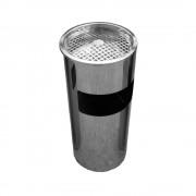 Cos de gunoi cu scrumiera, inox, 580 x 290 mm