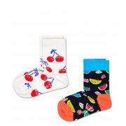 Happy Socks Sokken Kids 2 Pack Fruit Socks Rood