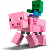 LEGO® Minecraft Porc BigFig cu Bebelus de zombi