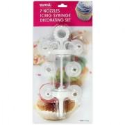Cake Decorating Icing Syringe with 7 nozzles