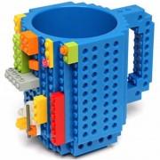 Taza Azul Build-on Diseño Bloks De Construccion Lego-Azul