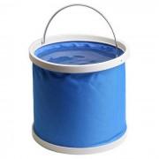 ZIQIAO portatil plegable coche pesca cubo cubo de lavado de coches - azul