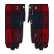 Дамски ръкавици TOMMY HILFIGER - Th Wool Mix Gloves Check AW0AW08941 0MS