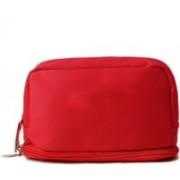 KOMTO Travel Toiletry Cosmetic Makeup Storage Organizer Bag for Men & Women (Multi-Purpose) Travel Toiletry Kit(Red)
